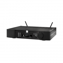 Moon 390 Preamplifier Network Player DAC in black.