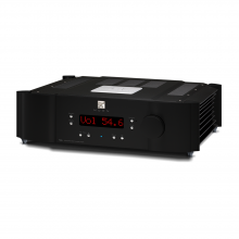 Moon 700i V2 Integrated Amplifier front, top and side view.